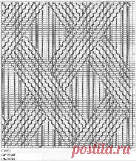 Красивый узор для пуловерв / Вязание