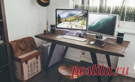Деревянный стол для рабочего места: стильные варианты – Вдохновение