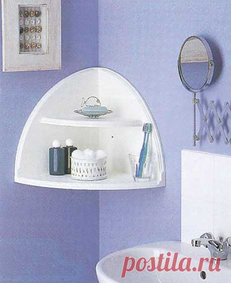 ANGULAR SHELF the HANDS. Corners in the house are often used irrationally though these places very much are suitable for the device of shelves. It is possible to buy ready angular racks and lockers, but often there are situations when it is necessary to make regiments most to use non-standard space or to make a new element of a decor of the room.