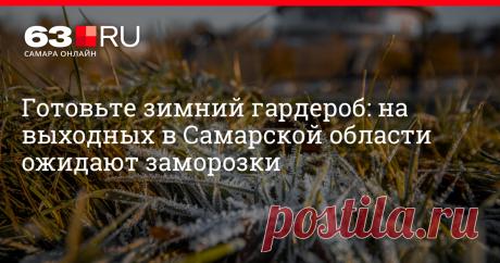 Готовьте зимний гардероб: на выходных в Самарской области ожидают заморозки В ближайшие дни погода снова удивит жителей региона.