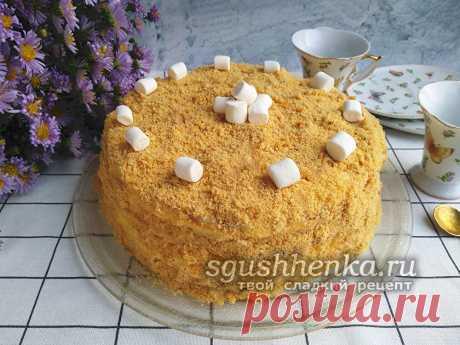 """Торт """"Светлана"""" без выпечки на сковороде: рецепт с фото пошагово"""