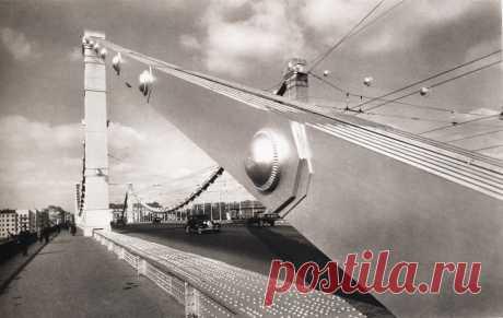 Крымский мост, 1938 год  |  Старая Москва Наума Грановского (часть 1) - Мастерок.жж.рф