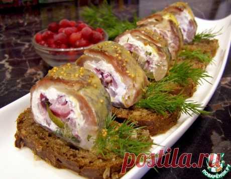 Закусочные рулеты из сельди – кулинарный рецепт