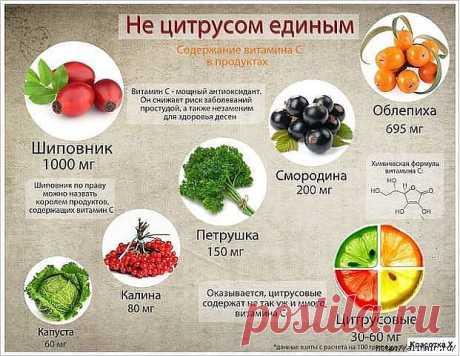 Таблица полезных продуктов