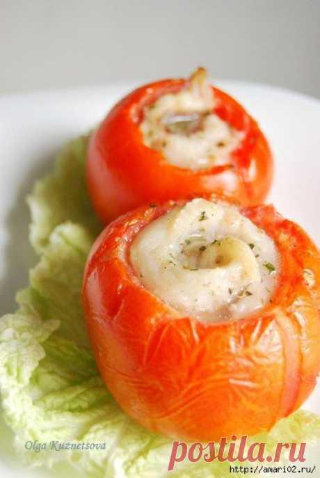 Помидоры, запечённые с рыбным филе..   :)