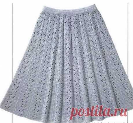 Элегантные вязаные крючком юбки
