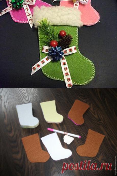 Как просто сделать сапожки для новогодних сувениров