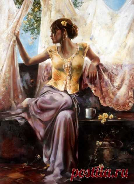 🔳 Красота и изящество женщин Рона ди Сценза | Типичный искусствовед | Яндекс Дзен