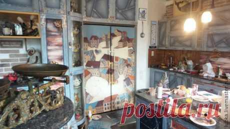 Как декорировать холодильник: роспись «Двойная суть» - Ярмарка Мастеров - ручная работа, handmade