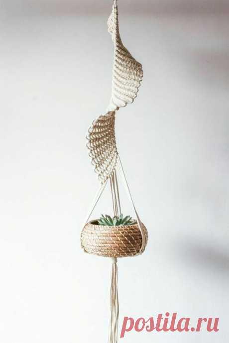 Jardinières en macramé inhabituelles (choix d'idées) / Fleurs, vases et pots de fleurs / SECOND STREET