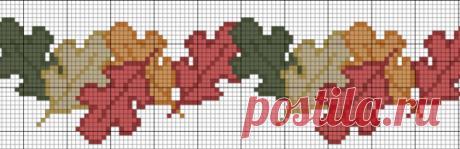 Бесплатные схемы вышивки - 5 проектов про осень