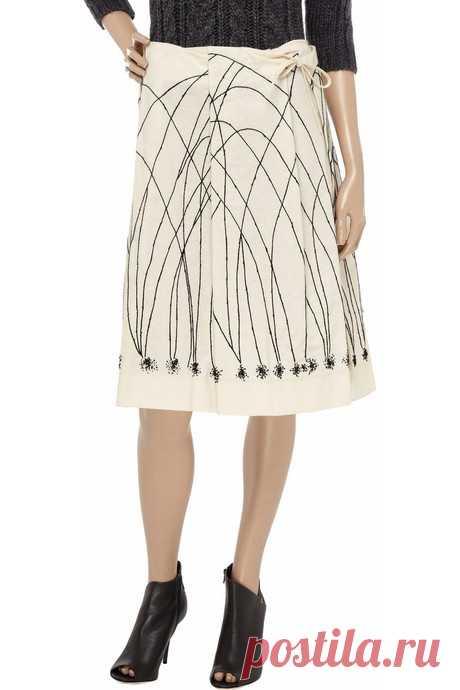 Юбка Marni с вышивкой Модная одежда и дизайн интерьера своими руками