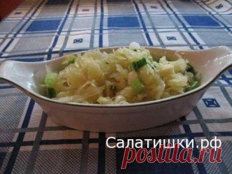 РЕЦЕПТ САЛАТА ИЗ КВАШЕНОЙ КАПУСТЫ С ЯБЛОКОМ   Рецепты вкусных салатов