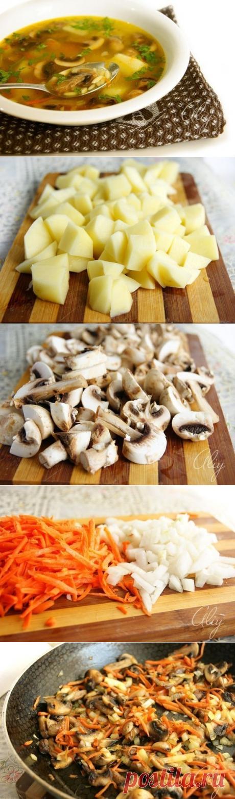 Как приготовить грибной суп - рецепт, ингредиенты и фотографии