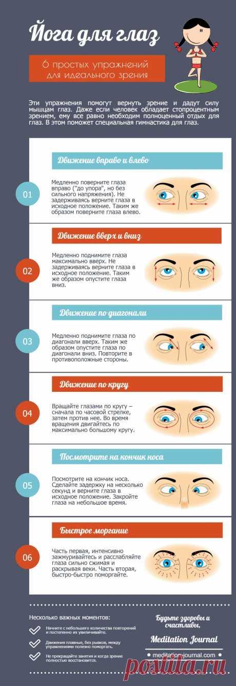 Йога для глаз (6 простых упражнений для идеального зрения) - Meditation Journal