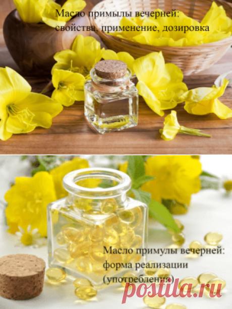 Масло примулы вечерней — свойства, применение, дозировка
