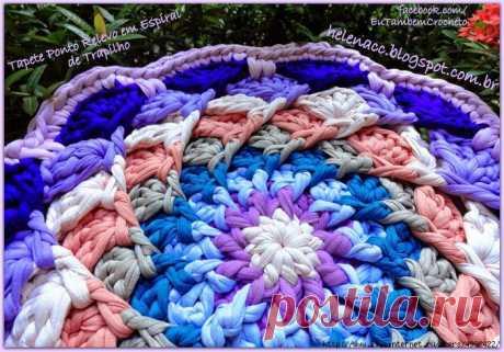 Спиральный вязаный коврик 9 цветов