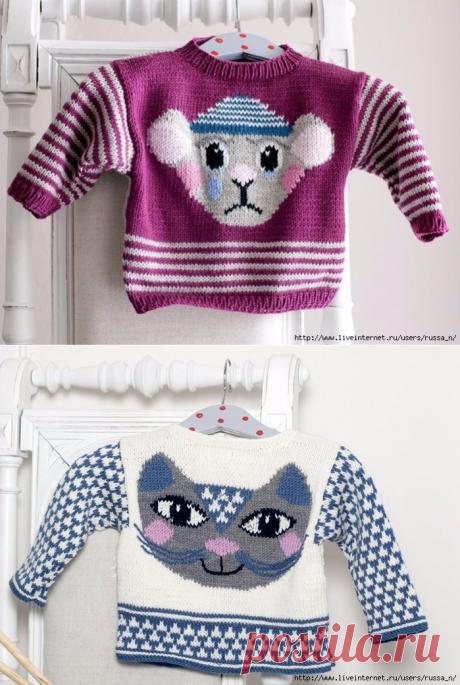 Жаккард для детских свитерков/идеи.
