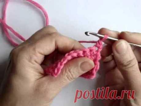 Вязание крючком - Урок 5. Убавление петель
