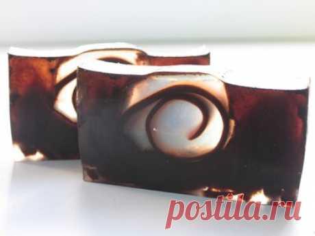 Кофейное мыло-скраб с шоколадом и корицей -