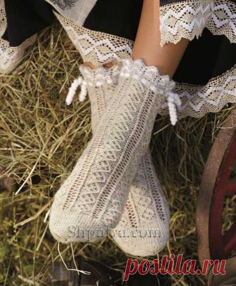 Ажурные носки на завязках - SHPULYA.com