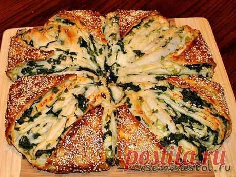 Пирог со шпинатом и брынзой | Всем За Стол — Вкусные, легкие, и быстрые рецепты!
