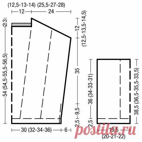 Розовый джемпер-оверсайз - схема вязания спицами. Вяжем Джемперы на Verena.ru