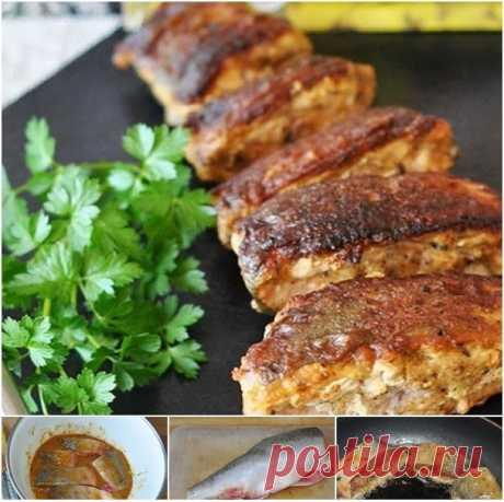 Горбуша в пикантном горчичном маринаде ⋆ Кулинарная страничка