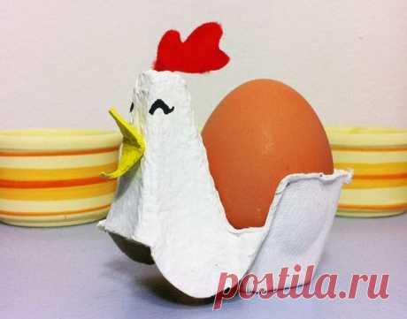 поделка из картонного лотка для яиц   =)