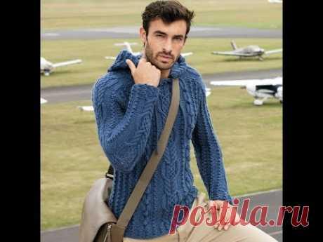 Мужской пуловер с капюшоном.Часть №1