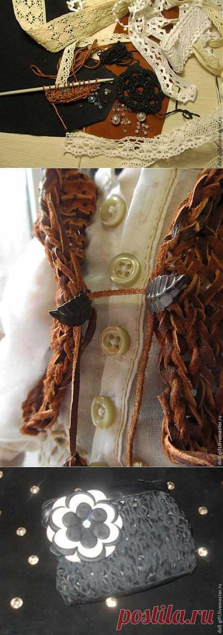 Вязание из кожи.