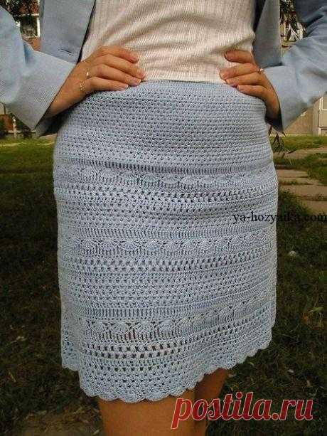 Юбка для лета крючком схема. Как вязать юбку крючком описание