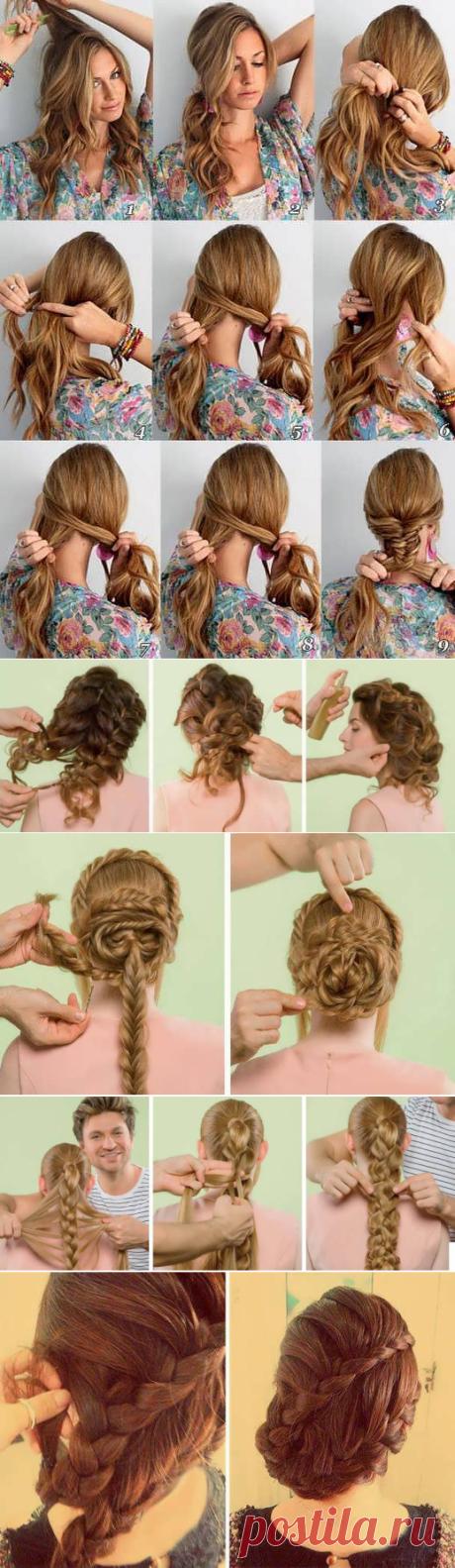 Красивые косички на длинные волосы своими руками: фото уроки