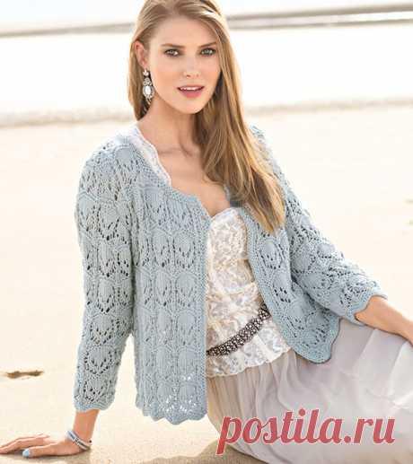 Жакет с филигранным ажурным узором спицами – 3 лучшие модели со схемами и описанием — Пошивчик одежды