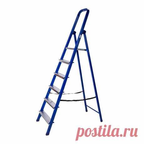 Стремянка стальная STAIRS синяя 6 ступеней купить по цене 1399.0 рублей в интернет-магазине ОБИ с доставкой. Основные характеристики: Материал: Сталь , Максимальная нагрузка: 150 кг , Количество ступенек: 6