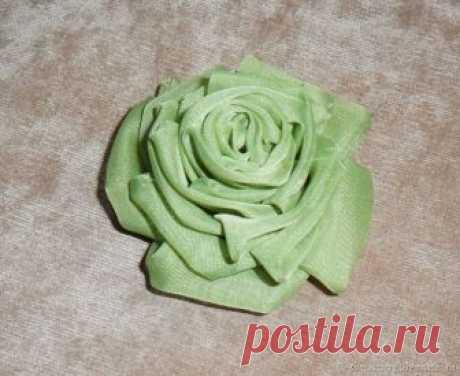 Как сделать розу из ткани – Ярмарка Мастеров