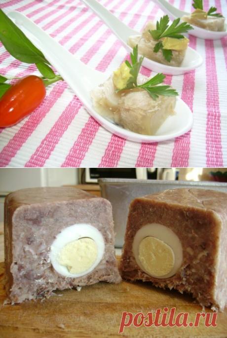 Сальтисон (зельц) — вкусный родственник холодца — Вкусные рецепты