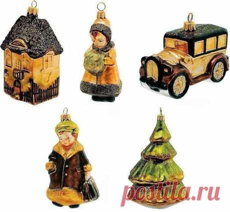 Collectible Vintage Glass Christmas Ornament Set Children | Etsy
