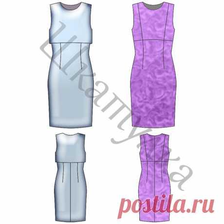 Выкройка платья с отлетной полочкой | Шкатулка
