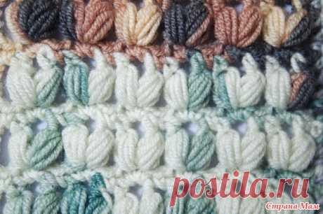 Пышные V столбики крючком - Вязание - Страна Мам