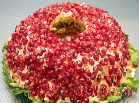 Салат «Гранатовый браслет» | В поисках вкуса