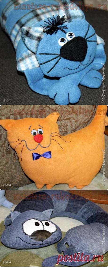 Игрушки-подушки-коты