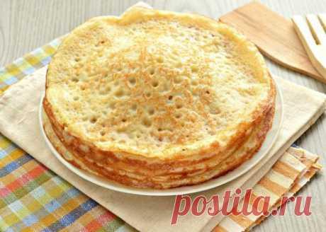 Рецепт блинов с плавленым сыром и сливочным соусом