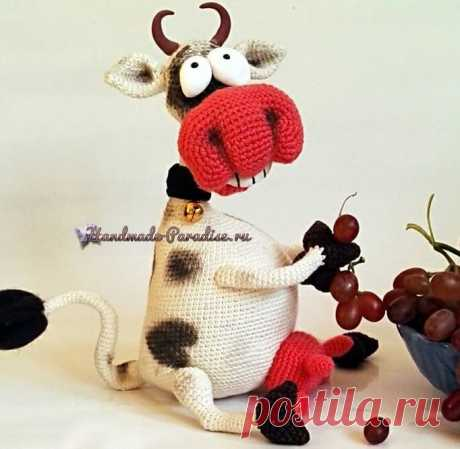 Веселая корова крючком. Амигуруми