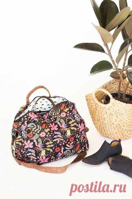 Большая сумка на подкладке с карманами: мастер-класс — Мастер-классы на BurdaStyle.ru