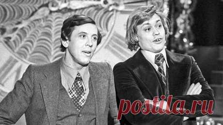 Валерий Золотухин и Николай Караченцoв. Голубой огонёк, 1978 год