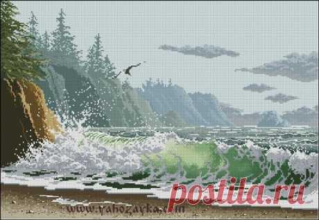Вышивка крестом морской пейзаж. Схемы вышивки крестом море скачать бесплатно | Я Хозяйка