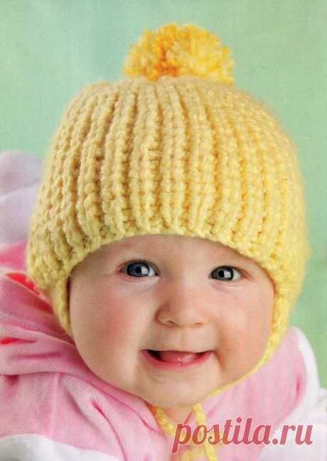 Чепчик для новорожденного спицами - схемы и советы вязания чепчика своими руками