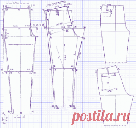 Выкройки брюк. | 5 выкроек лучших моделей брюк: 2 новых и 3 выкройки возможно уже забытых моделей брюк!
