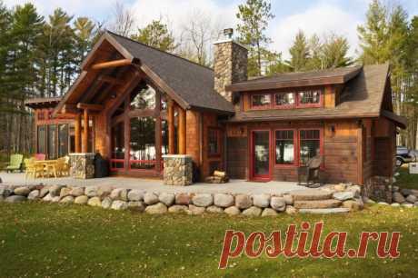 Воплощение природной красоты: 20 домов, оформленных в рустикальном стиле